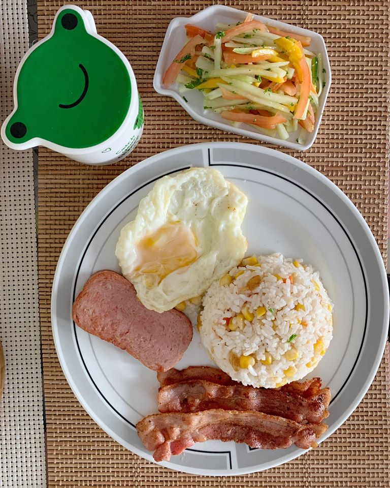 Spam, Bacon, Egg and Fried Rice