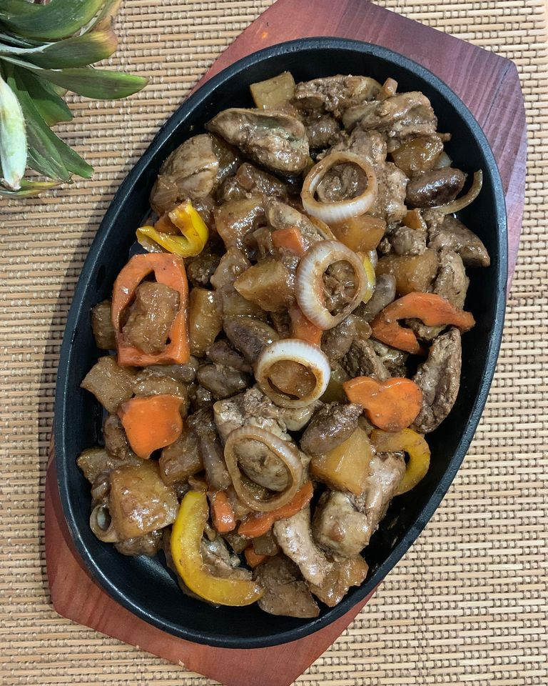 Sizzling Hawaiian Style Chicken Heart and Liver