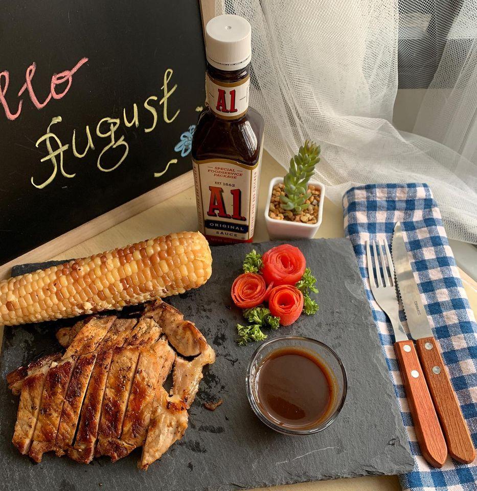 House of Hazelknots - Pan Grilled Herbed Pork Chops