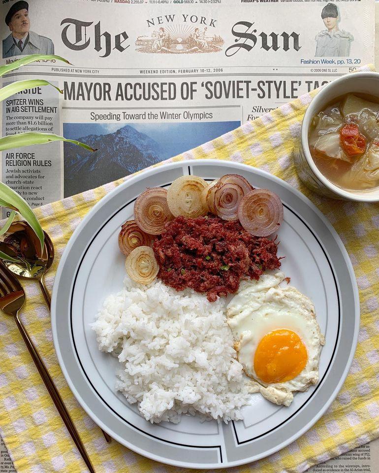 Breakfast with Purefoods Corned Beef