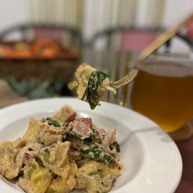 Creamy Tortellini Spinach
