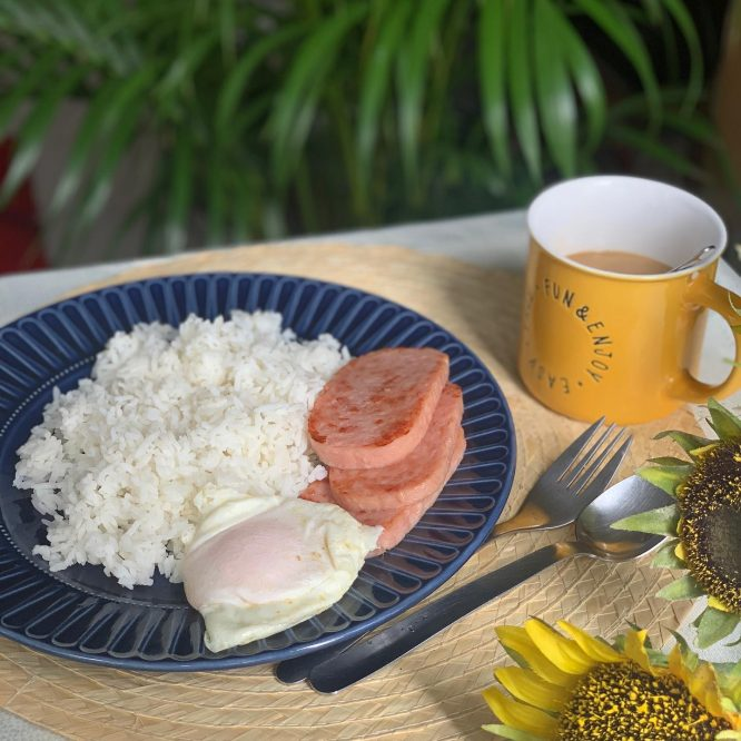 Spam and Egg Breakfast