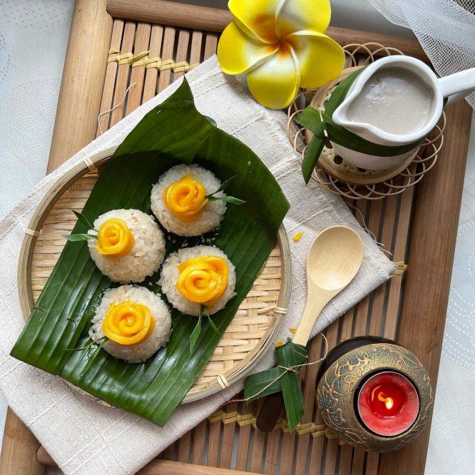Thai Food - Mango Sticky Rice - House of Hazelknots