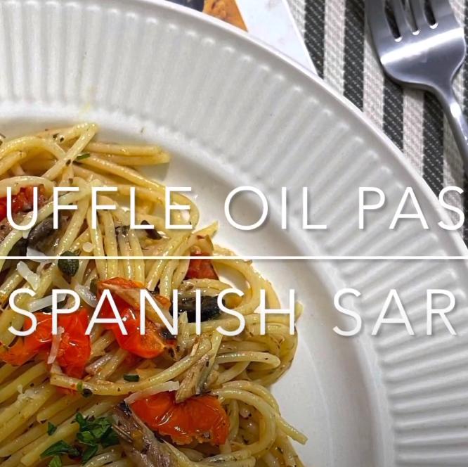 Truffle Oil Pasta with Spanish Sardines