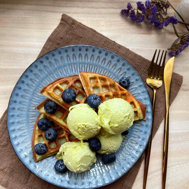 Waffle A la Mode - House of Hazelknots