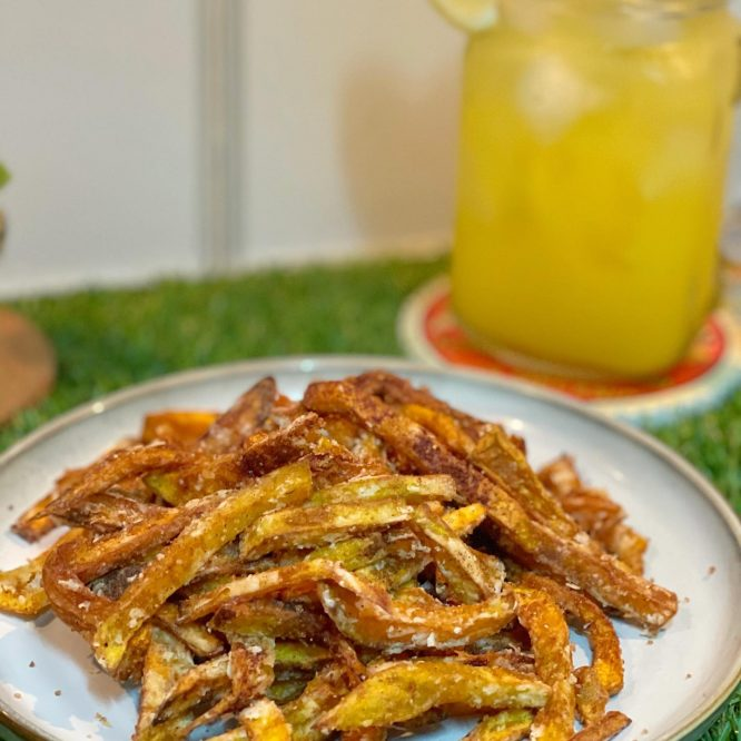 Cinnamon Squash Fries - Kalabasa Fries - House of Hazelknots