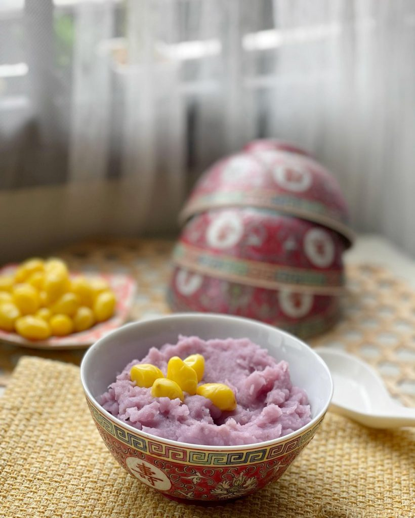 Yam paste with ginko nuts