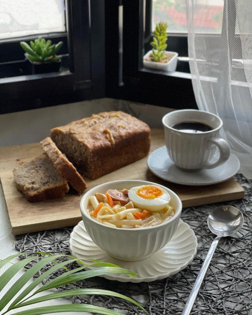 Filipino Soup - Creamy Sopas with Banana Walnut Bread