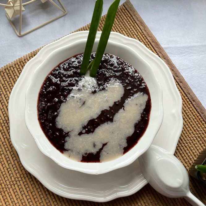 Singapore food - Pulut hitam - House of Hazelknots