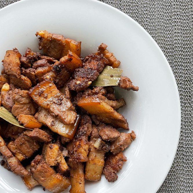 Pinoy Dish - Classic Dry Pork Adobo