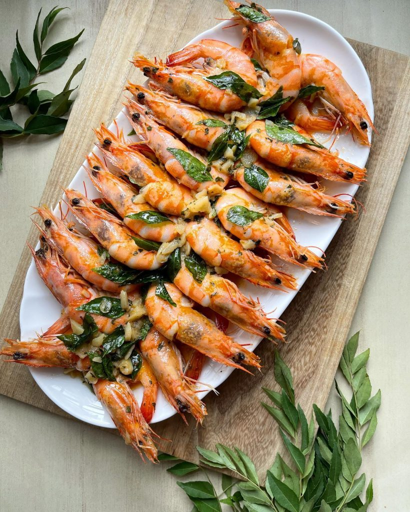 Buttered Shrimp with Curry Leaves